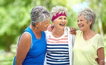 3 mature aged women