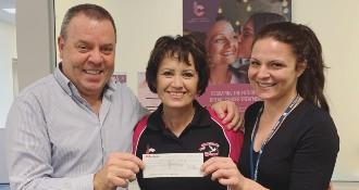 Something Pink Kalgoorlie fundraiser cheque presentation 2019